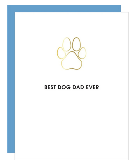 Chez Gagne Best Dog Dad Ever Paper Clip Card