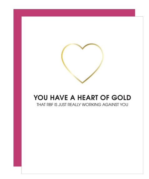 Chez Gagne Heart of Gold Paper Clip Card
