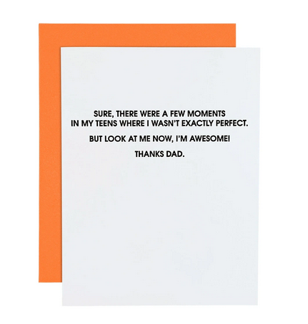 Chez Gagne I'm Awesome Father's Day Card