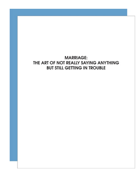 Chez Gagne Marriage: Not Saying Anything Card