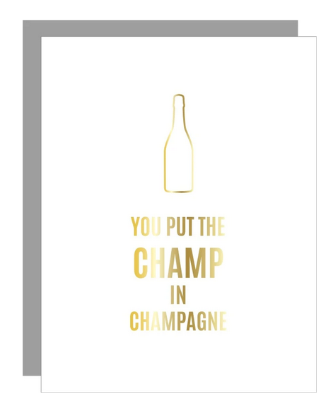 Chez Gagne Champ in Champagne Paper Clip Card