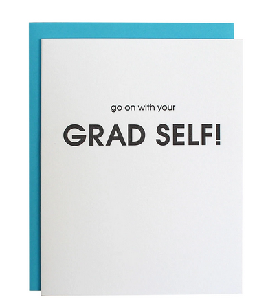 Chez Gagne Go On With Your Grad Self Card