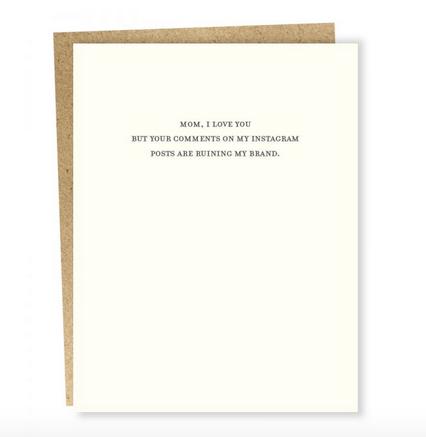 Sapling Press Mild Confessions: Insta Comments Card
