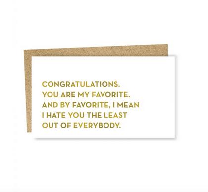Sapling Press Mini Card - Favorite