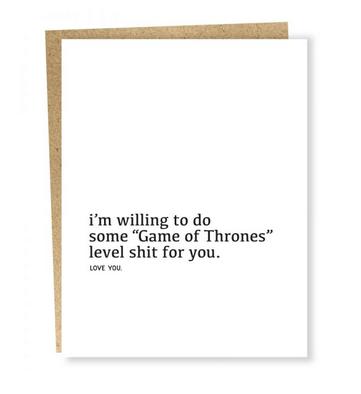 Sapling Press Love You: Throne Level Card