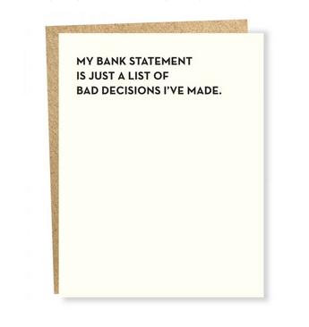 Sapling Press Moment of Truth: Bank Card