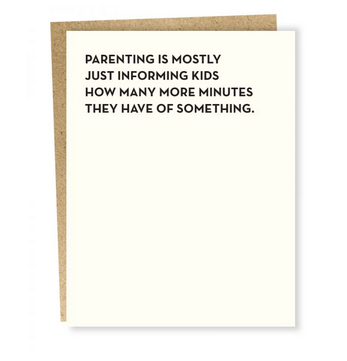 Sapling Press Moment of Truth - Minutes Card