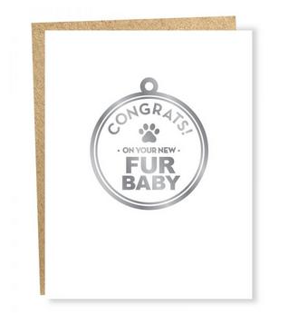 Sapling Press Fur Baby Congrats Card