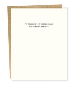 Sapling Press Mild Confessions Beyonce Card