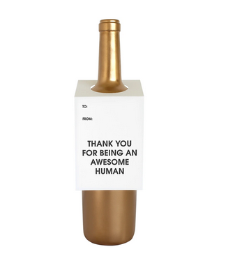 Chez Gagne Awesome Human Wine Tag