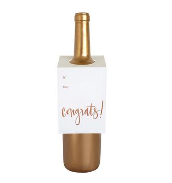 Chez Gagne Congrats Wine Tag