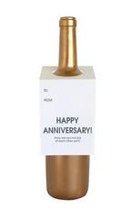 Chez Gagne Happy Anniversary Wine Tag