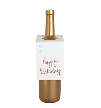 Chez Gagne Happy Birthday Wine Tag