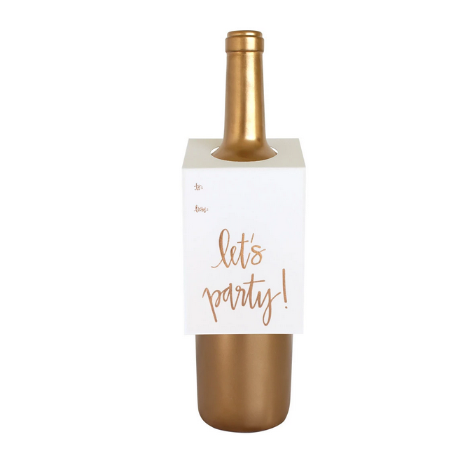 Chez Gagne Let's Party Wine Tag