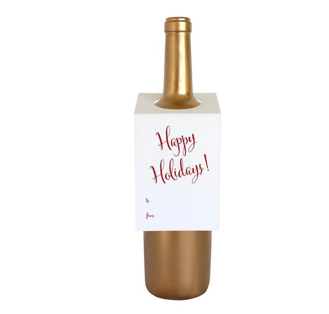 Chez Gagne Happy Holidays Wine Tag