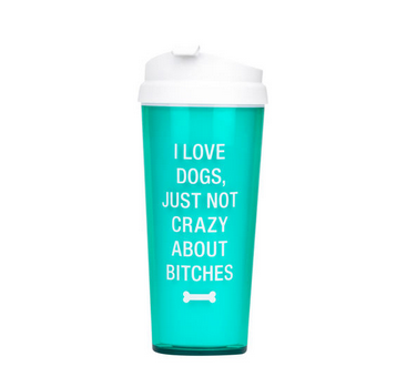 About Face Designs I Love Dogs Travel Mug