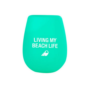 About Face Designs Beach Life Silicone Wine Glass