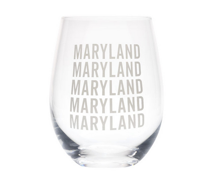 About Face Designs Maryland Wine Glass