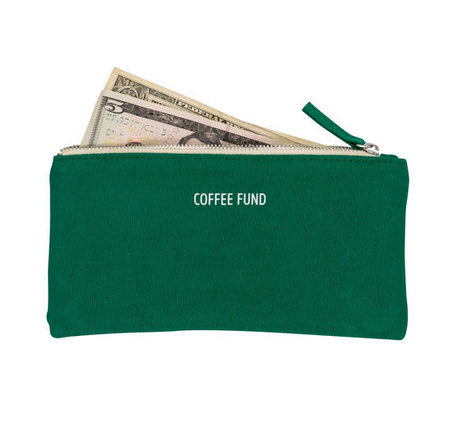About Face Designs Coffee Fund Money Pouch