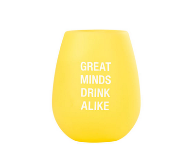 About Face Designs Great Minds Silicone Wine Glass