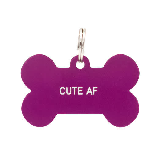 About Face Designs Dog Tag - Cute AF