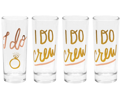 About Face Designs I do Crew Shot Glass - Set of 4