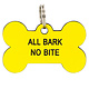 About Face Designs Dog Tag - All Bark No Bite