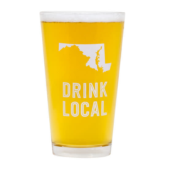 About Face Designs Maryland Beer Pint Glass
