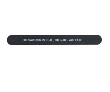 About Face Designs Nail File - Sarcasm Real