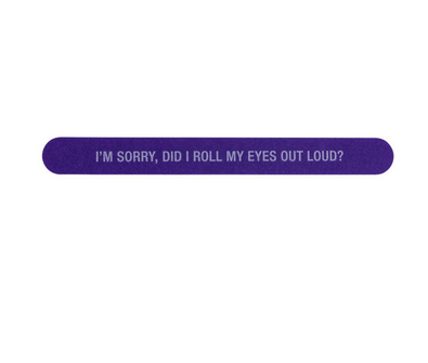 About Face Designs Nail File - Roll My Eyes
