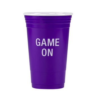 About Face Designs Game On Party Cup Purple