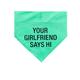 About Face Designs Girlfriend S/M Dog Bandana
