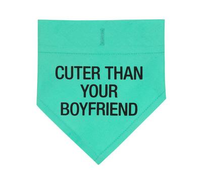 About Face Designs Cuter Than Your Boyfriend S/M Dog Bandana