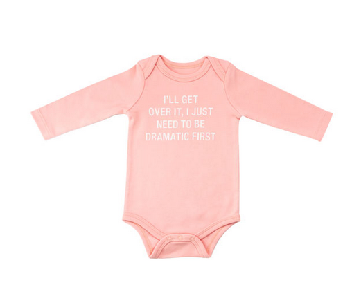 About Face Designs Dramatic L/S Onesie 3-6 Months