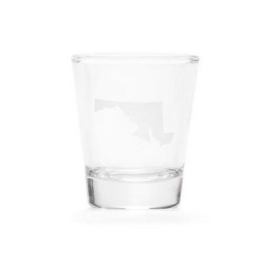 About Face Designs Maryland Shot Glass