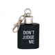 About Face Designs Don't Judge Me Key Ring Flask