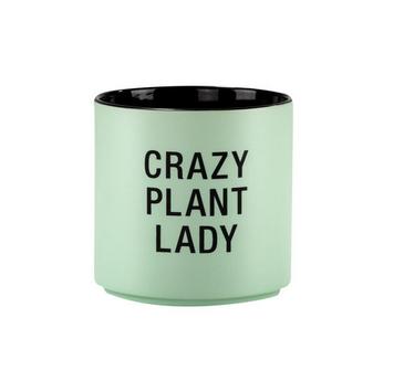 About Face Designs Crazy Plant Lady Planter