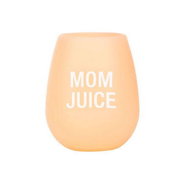 About Face Designs Mom Juice Silicone Wine Glass