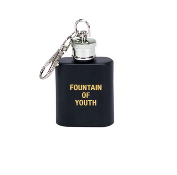 About Face Designs Fountain of Youth Key Ring Flask