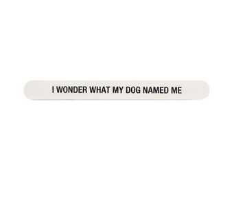 About Face Designs Nail File - Dog Named Me
