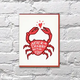 Bench Pressed Crabby Card