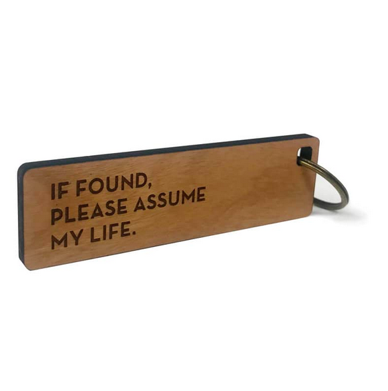 Sapling Press Key Tag - Assume Life