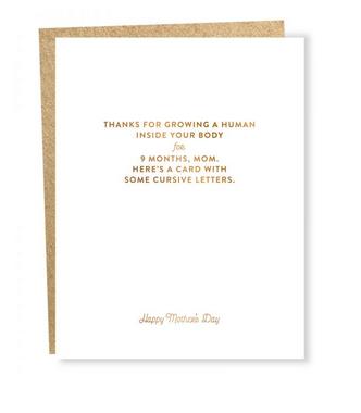 Sapling Press Cursive: Mother's Day Card