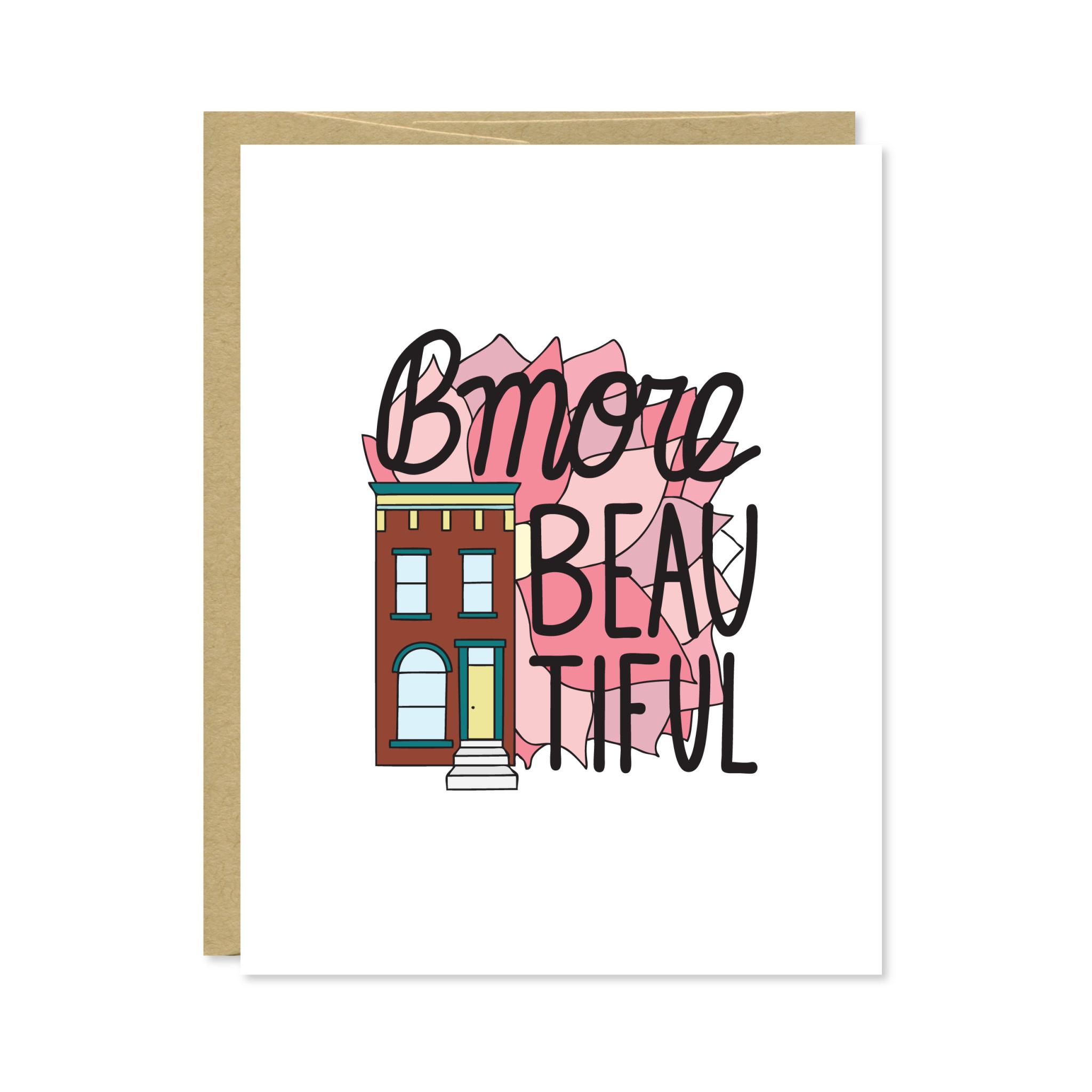 Row House 14 Bmore Beautiful Card