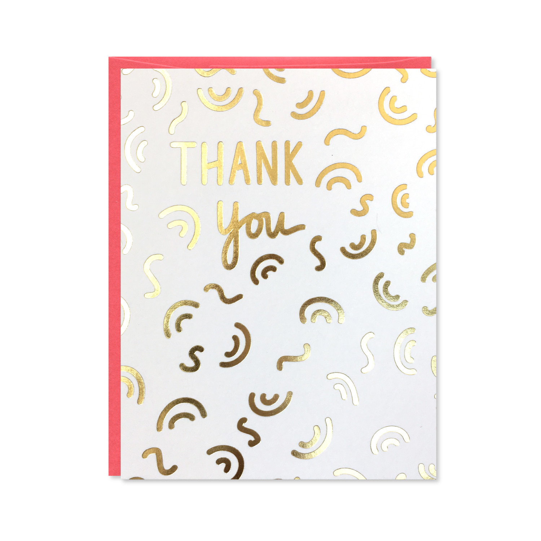 Row House 14 Gold Foil Thank You Card