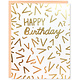 Row House 14 Gold Foil Confetti Birthday Card