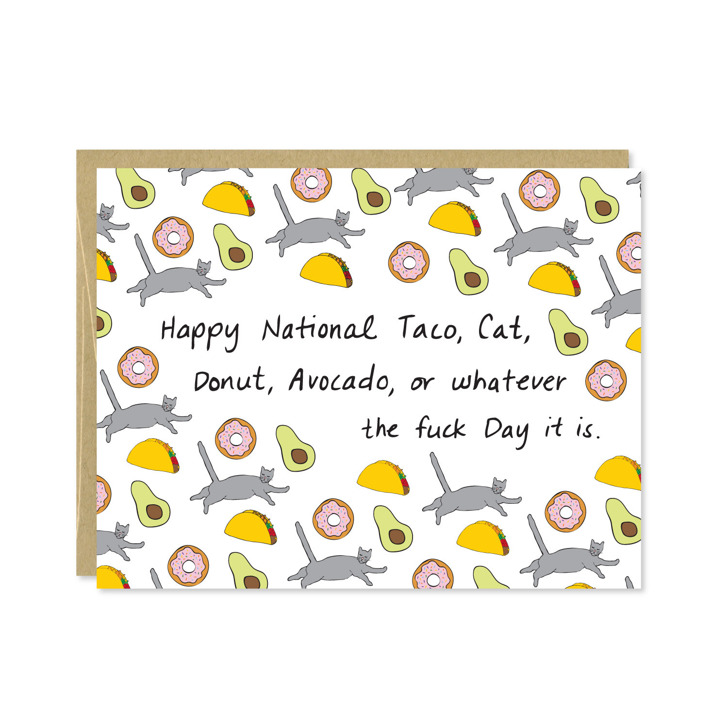 Row House 14 National Whatever Day Card