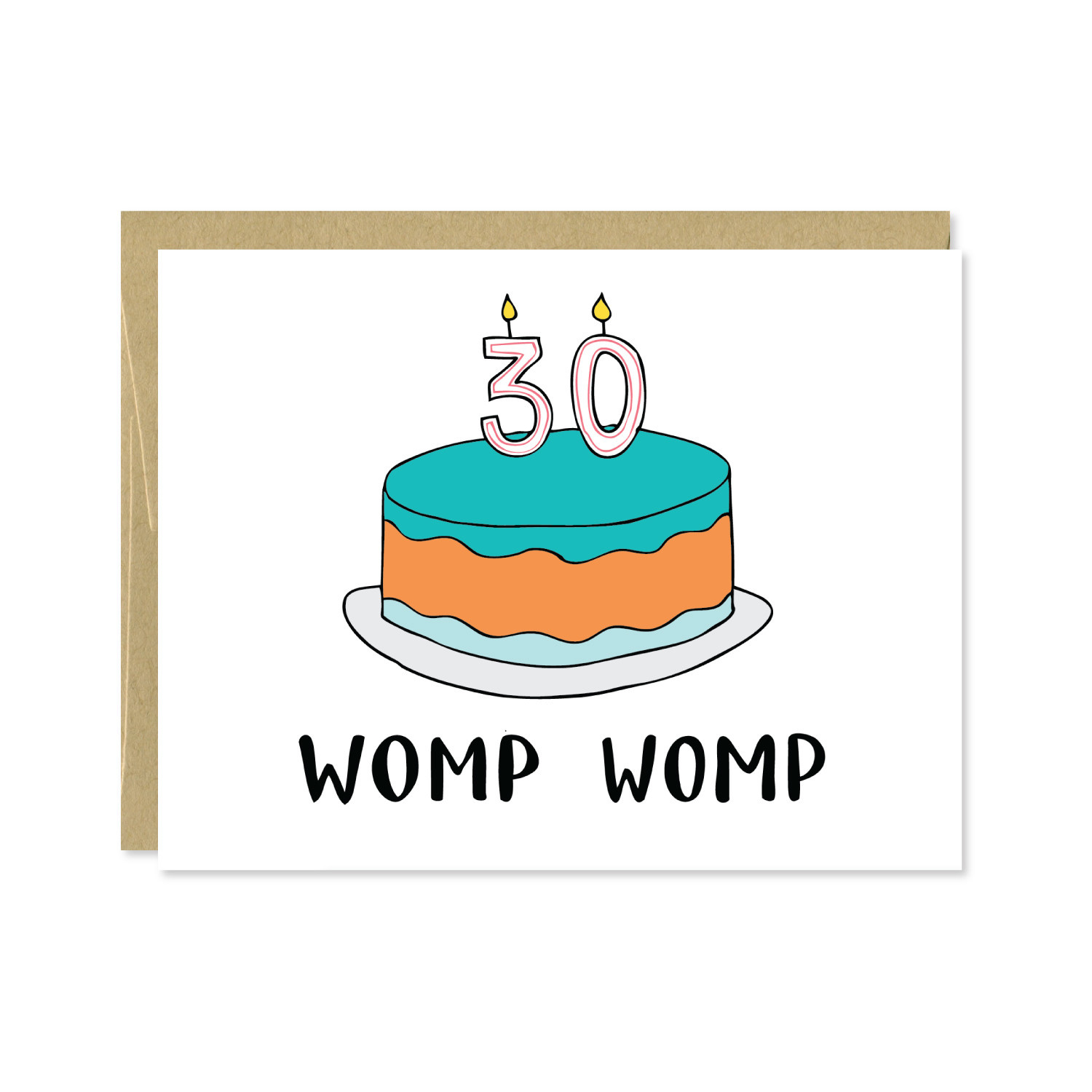 Row House 14 30th Birthday Card - Womp Womp