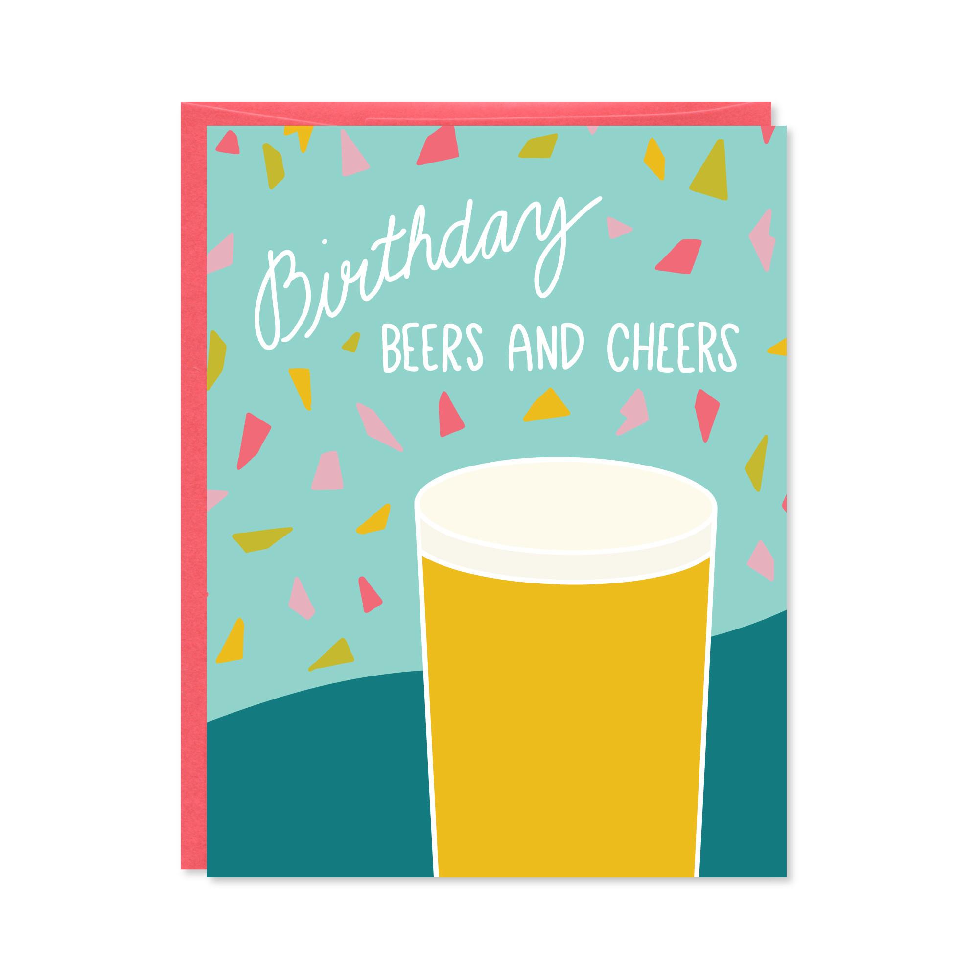 Row House 14 Beers & Cheers Birthday Card