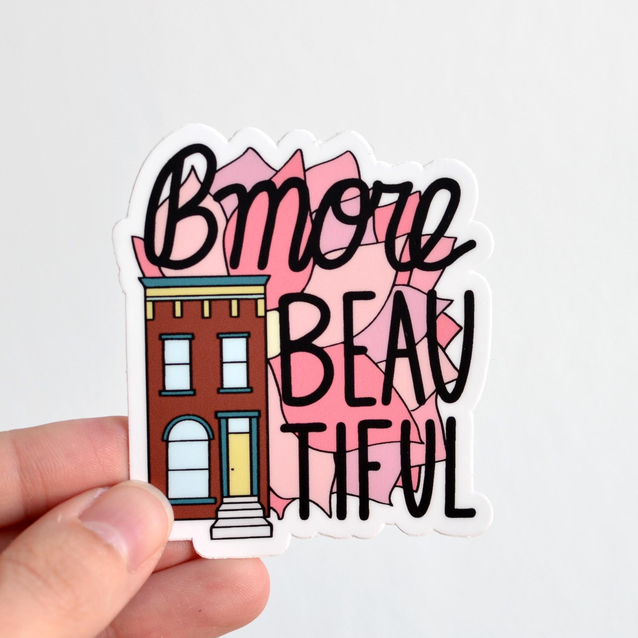 Row House 14 Bmore Beautiful Sticker